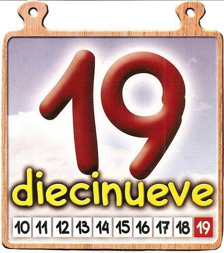 Los Numeros Del 11 Al 20 Imprimibles Para Preescolar Material Didactico Para Ninos Actividades De Matematicas Preescolares