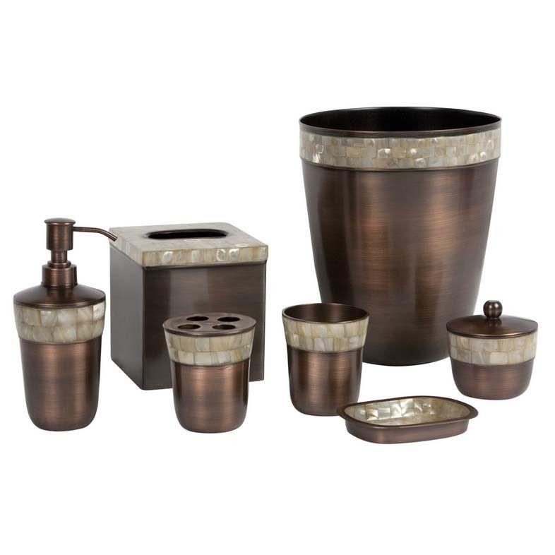 Paradigm Trends Opal Piece Bath Accessory Set Jack Bathroom - Copper bathroom accessories sets for bathroom decor ideas
