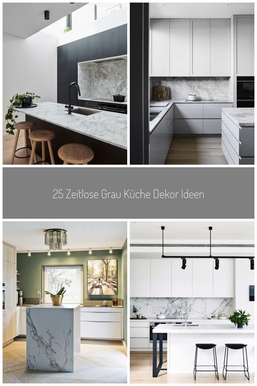 Moderne Minimalistische Kuche Aus Schwarz Weissem Marmor Als Arbeitsplatte Aus 2020