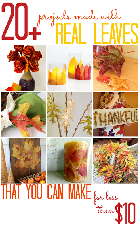 20  Projects Made with Real Leaves - All Cheap Crafts