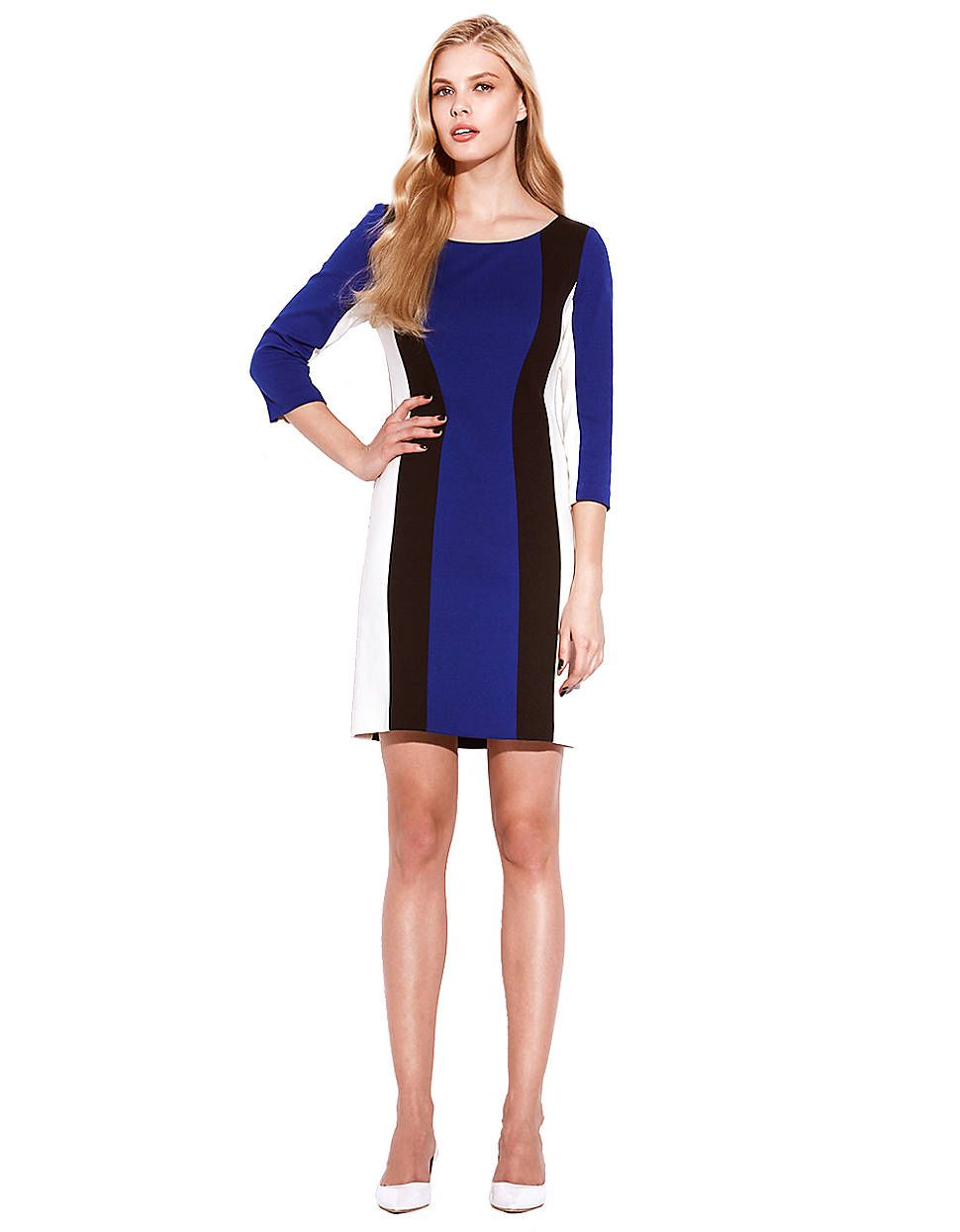 6208ebf07a78 Colorblock Stripe Shift Dress | Lord and Taylor. Laundry by Shelli Segal.
