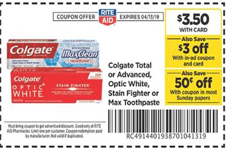 Free Colgate Toothpaste At Rite Aid Colgate Toothpaste Colgate