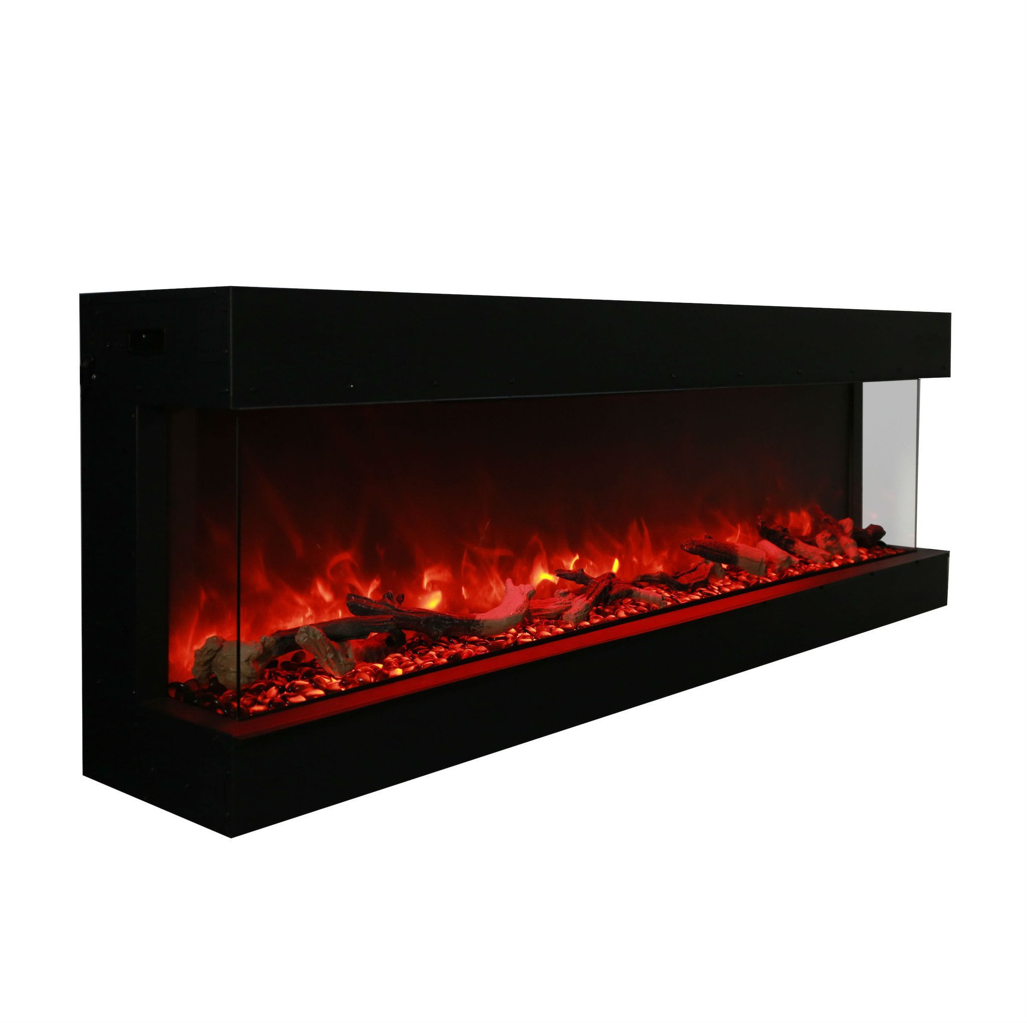 lit special burner waves starting pit at fireglass includes steel stainless ornaments accessories fireplace fire