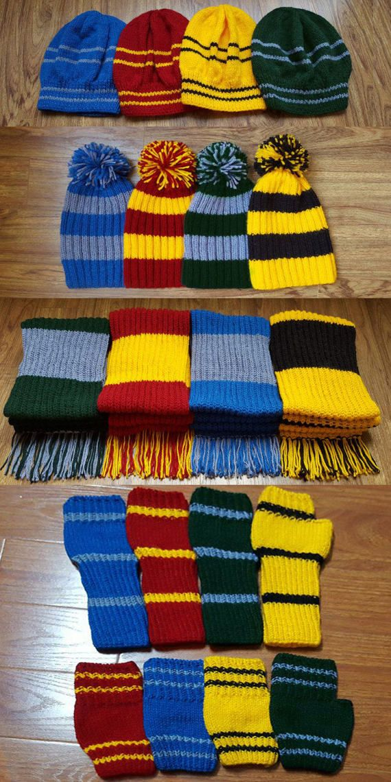 5fc5c73c458 Combo hand-knitted cozy strip hat scarf glove 70% discount. Combo  hand-knitted cozy strip hat scarf glove 70% discount Harry Potter  Gryffindor Scarf