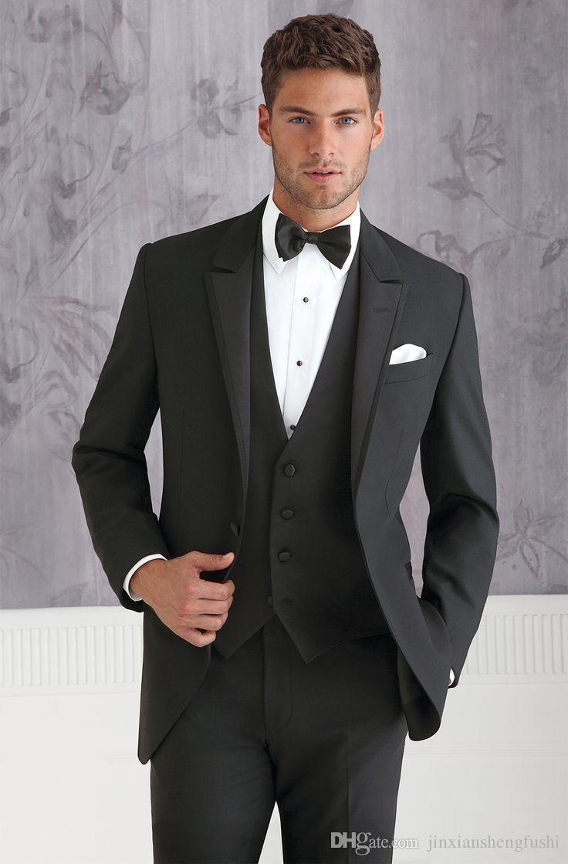 439ea622dbf 2016 Best Selling Two Button Notch Lapel Men Wedding Tuxedos Custom Made  Grooms Tuxedos Beach Wedding