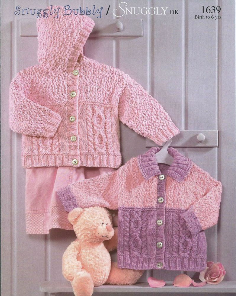PDF Digital B aby Childrens Knitting Pattern Hooded Jacket Cardigan ...