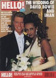david bowie & Iman - on the cover of Hello Magazine