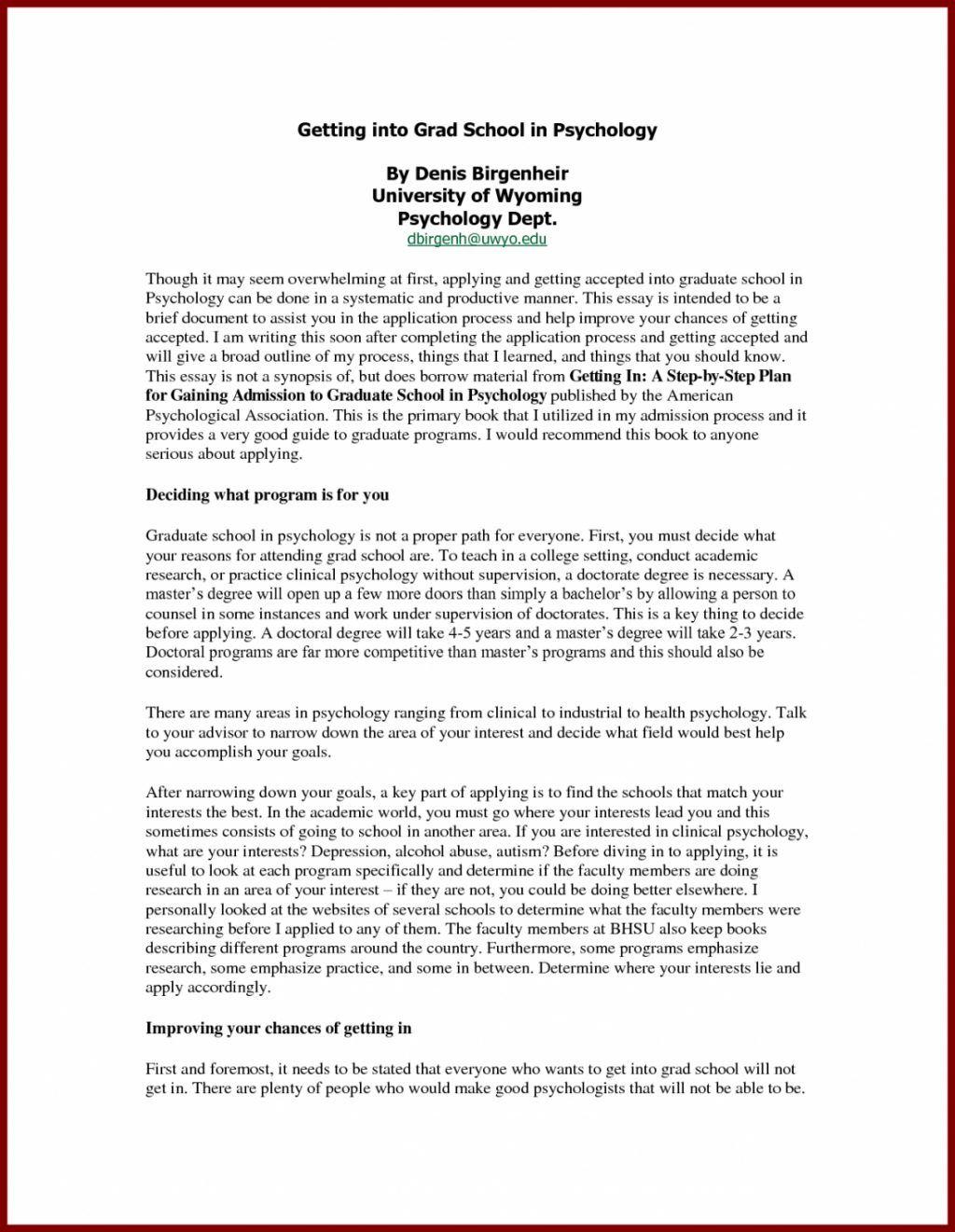 27 Cover Letter For Graduate School Cover Letter For Resume