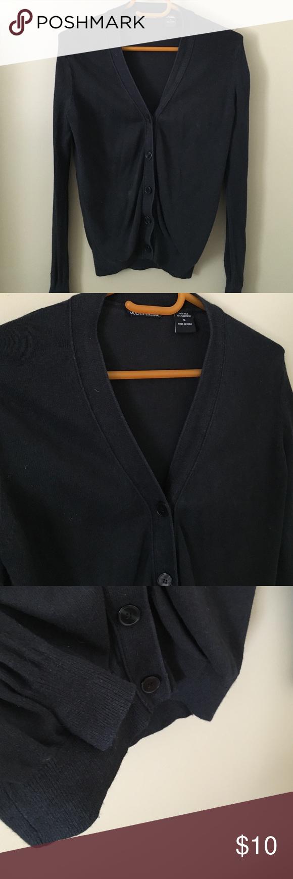 Silk/Cashmere Cardigan Sweater Silk and cashmere black cardigan ...