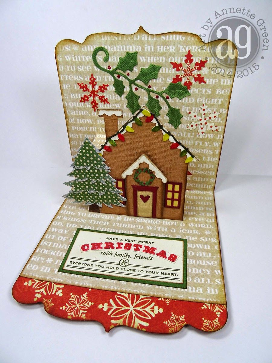 Unique Christmas Card Gingerbread House Pop Up By