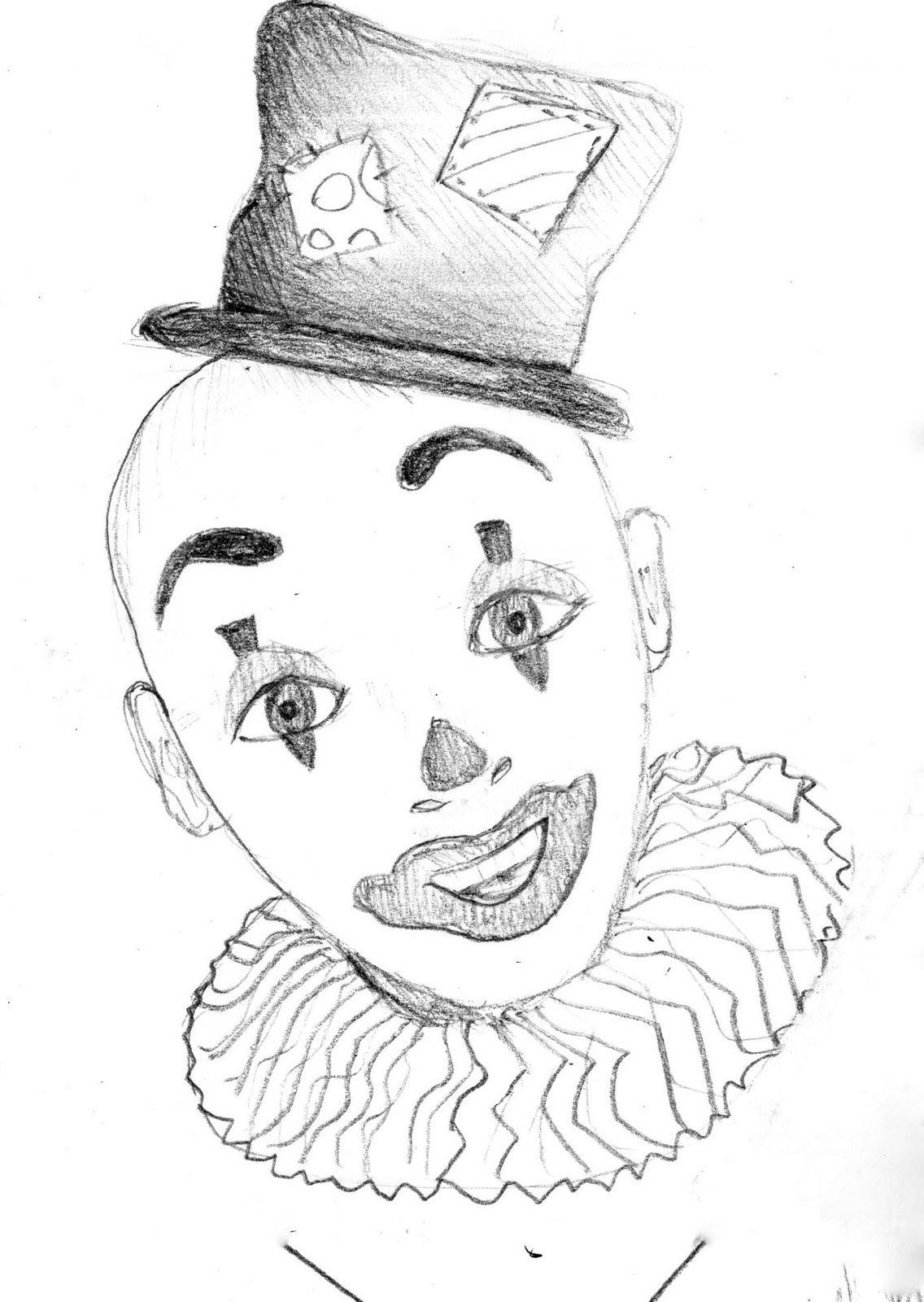 Картинки карандашом клоунов