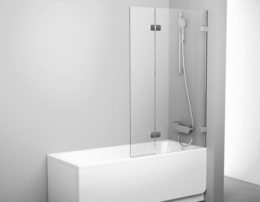 Two Part Bathtub Panel With A Movable Section Ab 5139 This Is One Luxury Gem For Your Bathroom Only Glass And Chr Shower Screen Glass Shower Bathtub Shower