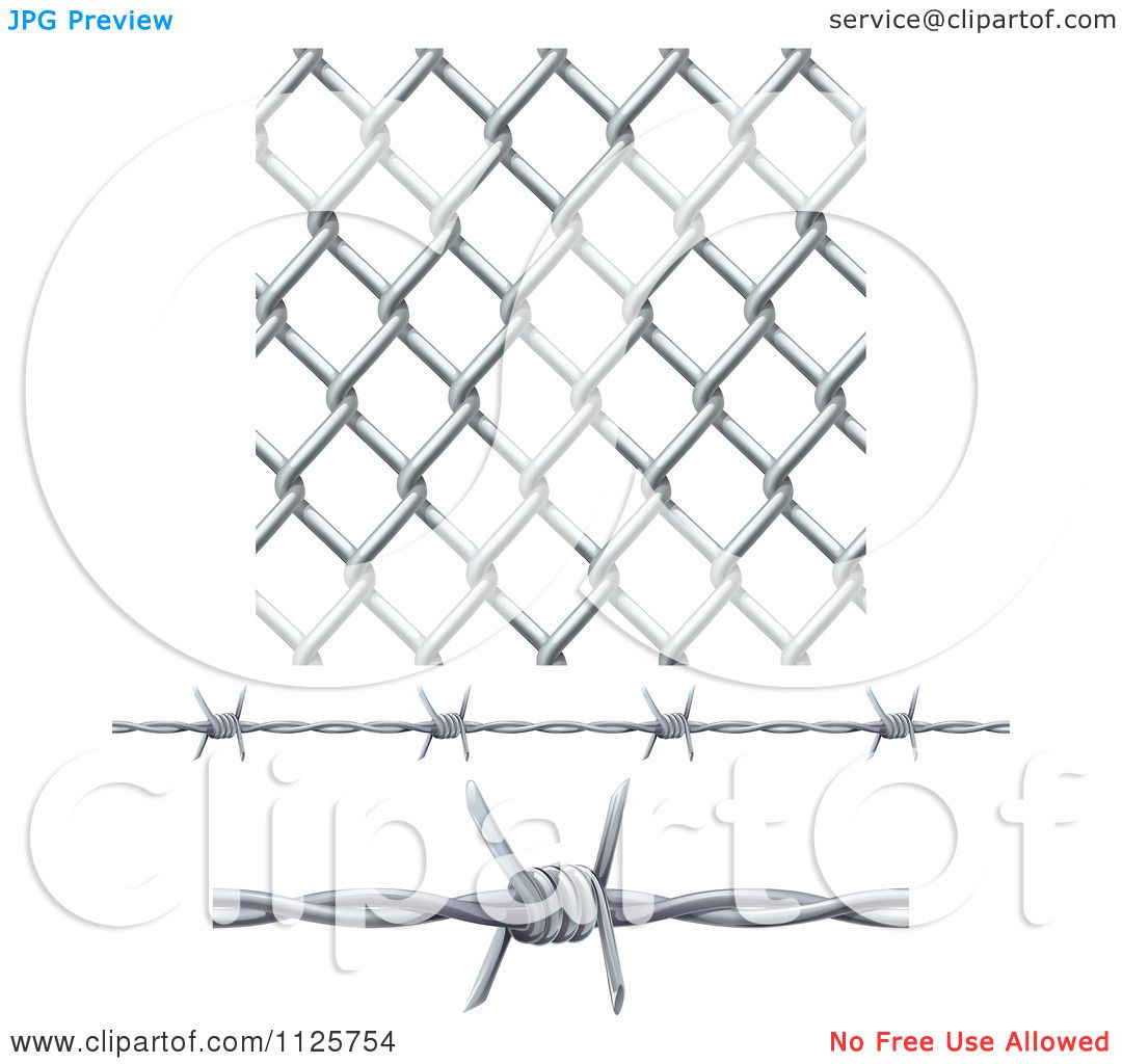 Chain Link Fence And Barbed Wire Tattoo