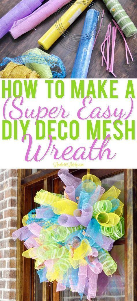 Wie man einen (super einfachen) DIY Deco Mesh Kranz macht