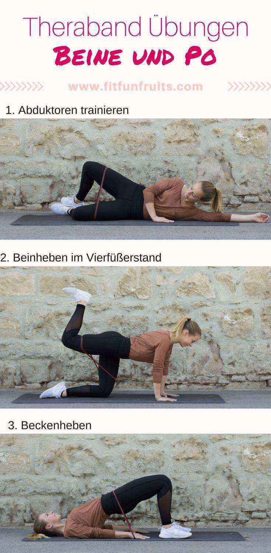 Die besten #Theraband # Übungen für Beine und Po! #workout #fitness #fitnessoti ...   - Live healthy...