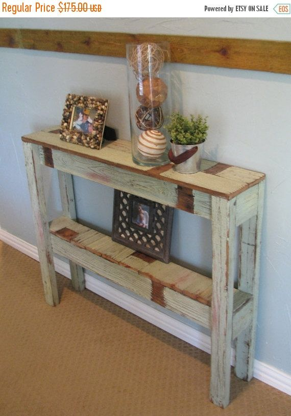 Truly Unique And Special Rustic Sofa Table Has Been Built From