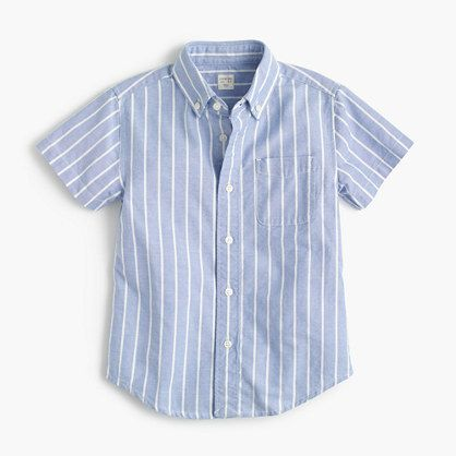 A classic shirt in a traditional oxford cloth that actually gets better—and softer—with wear. The slightly longer fit is perfect for tucking in (and staying that way), while short sleeves make it spring- and summer-ready. <ul><li>Cotton.</li><li>Button-down collar.</li><li>Chest pocket.</li><li>Machine wash.</li><li>Import.</li><li>Online only.</li></ul>