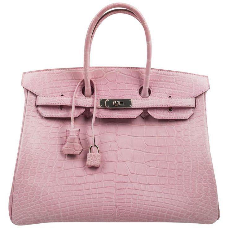 Photo of Hermes Birkin 35 sachets 5P Bubblegum Pink Matt Alligator Palladium Rare – Hermes …
