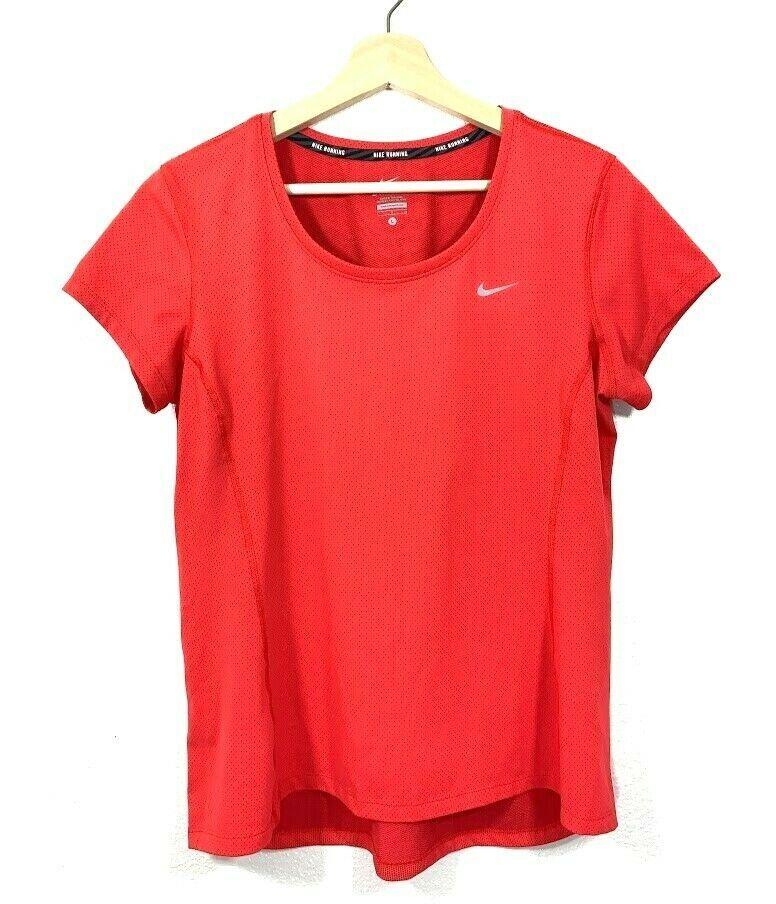 Details about nike drifit running womens t shirt top size