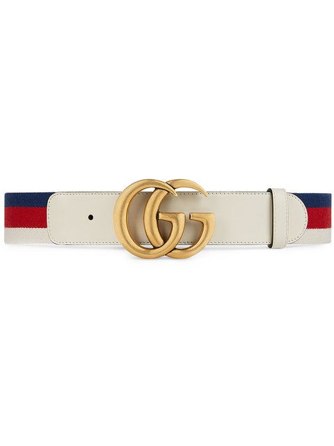 Photo of Gucci Sylvie Web Belt With Double G Buckle – Farfetch