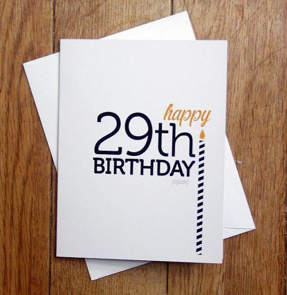 30th funny blank birthday card happy 29th birthday again happy 30th funny blank birthday card happy 29th birthday again bookmarktalkfo Images