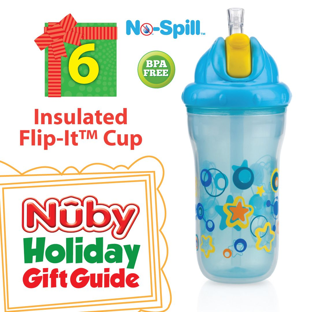 Nuby Insulated No Spill Flip It Holiday Gift Guide Holiday Sweepstakes Gift Guide