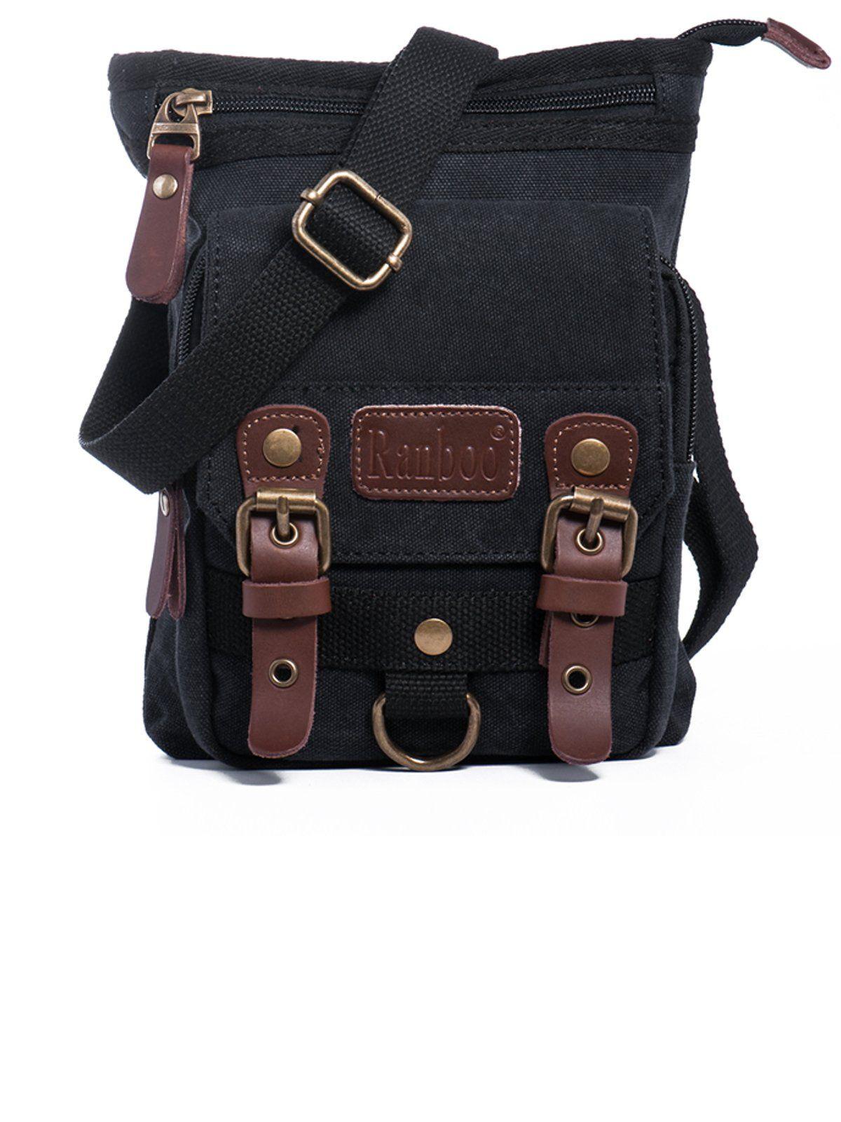 watch 4de95 486a9 Small Vintage Canvas Shoulder Bag Belt Clip Pouch Work Bag Cellphone ...
