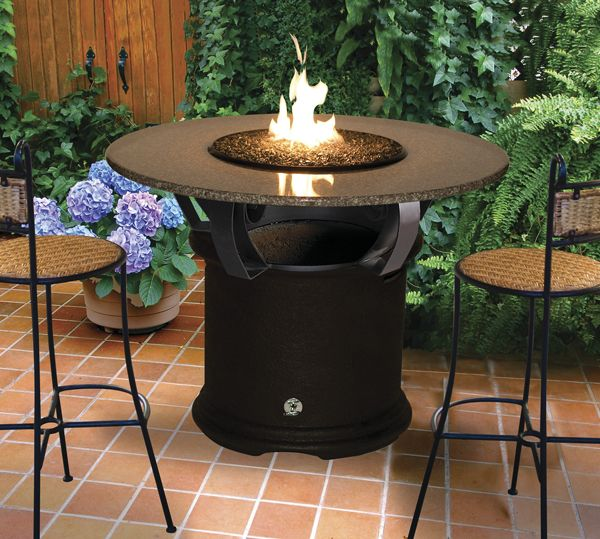 Charmant Nashville Brachants Bar Height Table With A Fire Pit