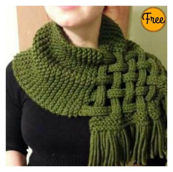 Beautiful Celtic Knot Looped Scarf Free Knitting Pattern | baby ...