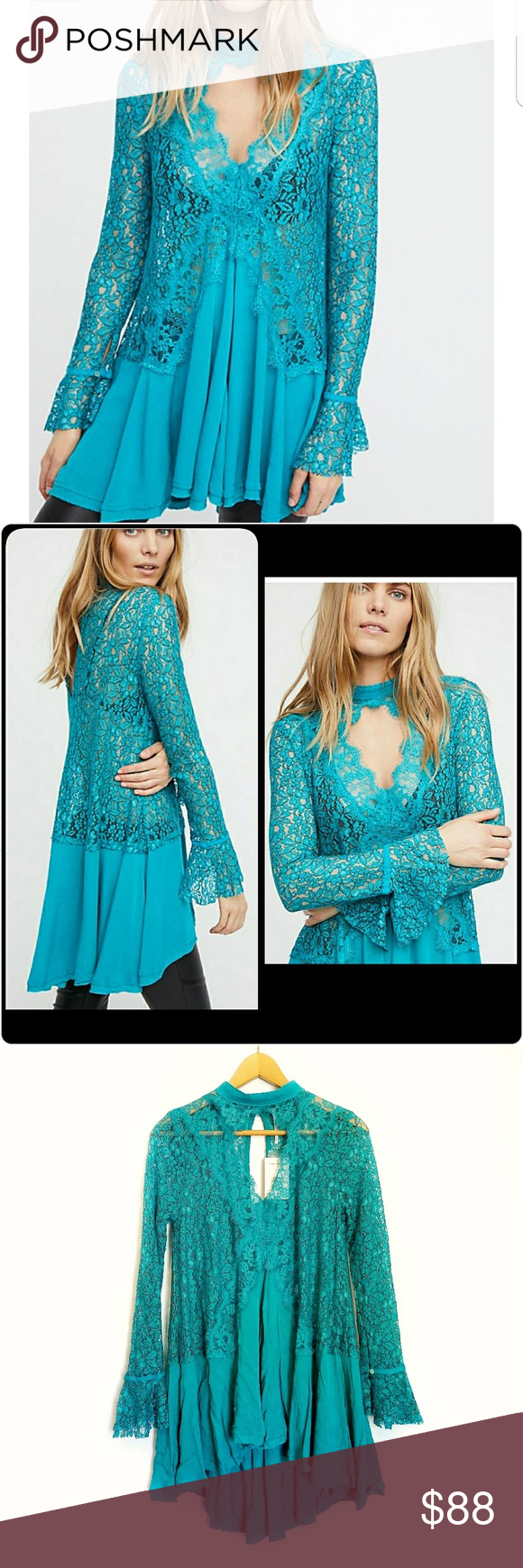 Nwt free people tunic top lace crepe swing dress nwt my posh picks