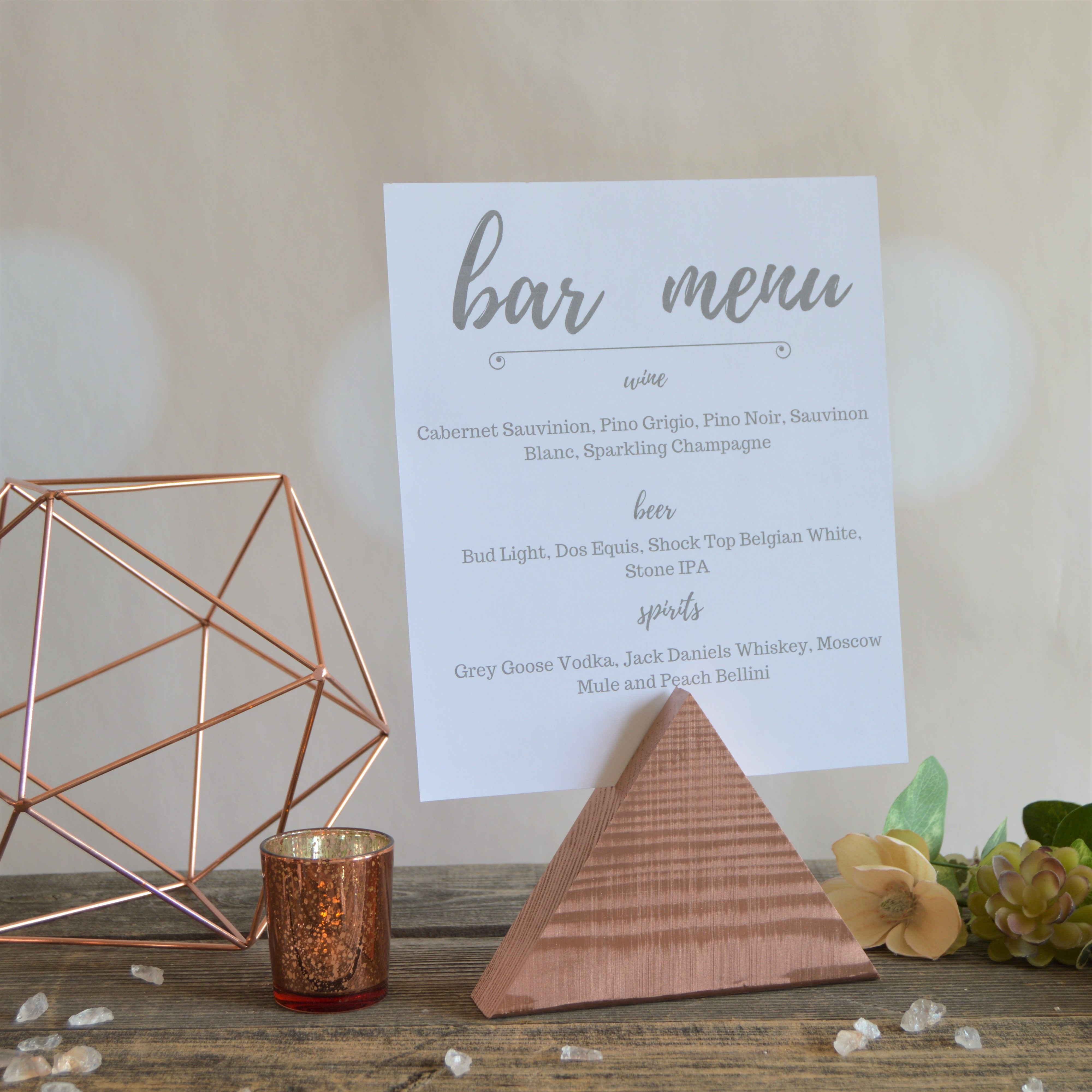 Wedding Chapel Decoration Ideas: Triangle Wedding Sign Holder • Choose Your Color