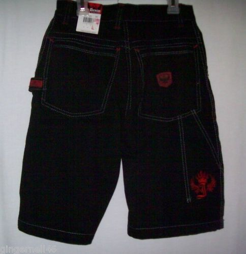 JNCO Denim Boys Short Black Size 16 New with Tag