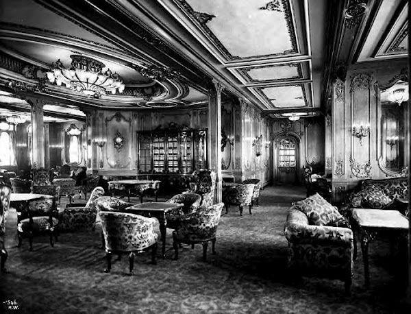 1st Class Library Titánico Imágenes Del Titanic Titanic Fotos Reales