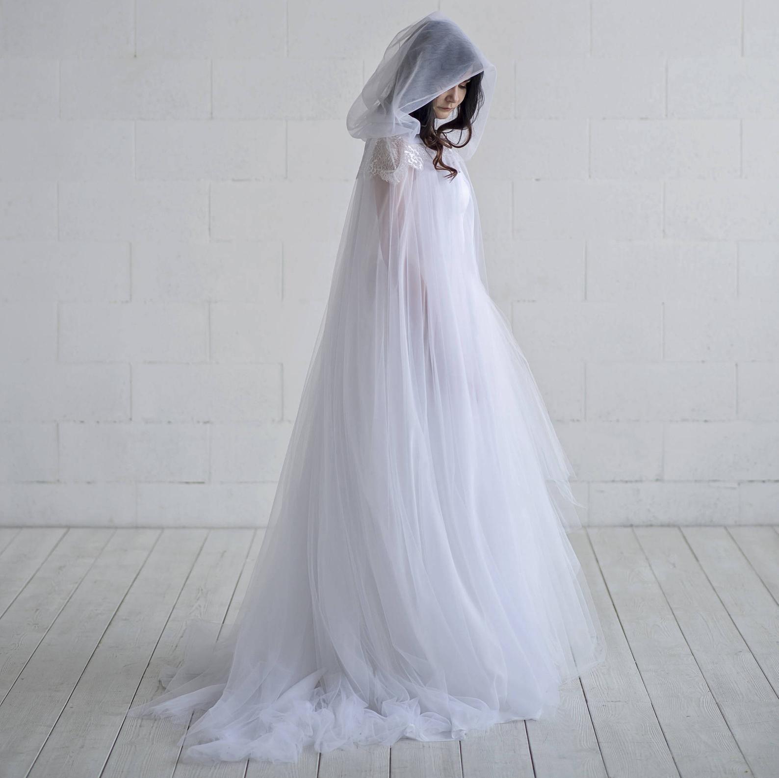 Ethereal Bridal Cloak Wedding Cape Bridal Cape Tulle Etsy Wedding Cloak Wedding Dresses Bridal Cape