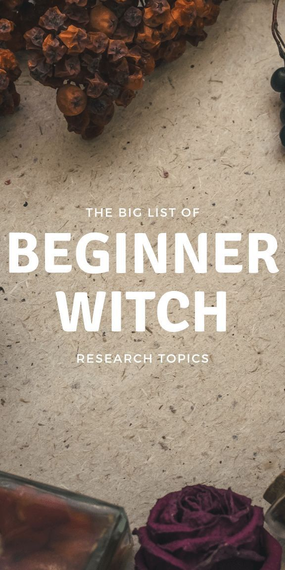 Things That Every Beginner Witch Should Research #modernwitch
