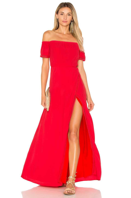 Rot Off-Shoulder Abendkleider Lang Damenmode  Alle Augen auf dich