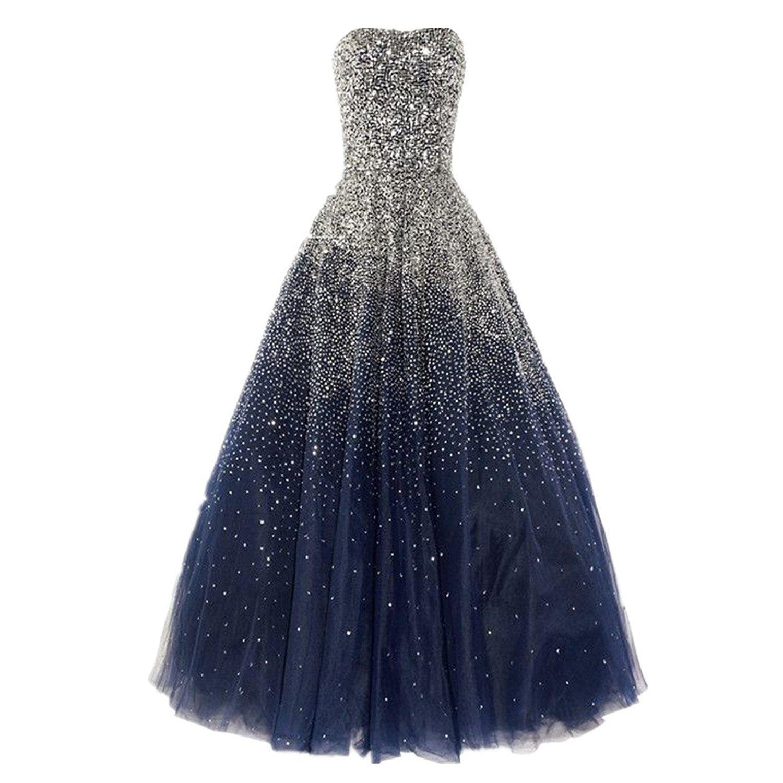Amazon dressesonline womenus luxury prom dresses long with