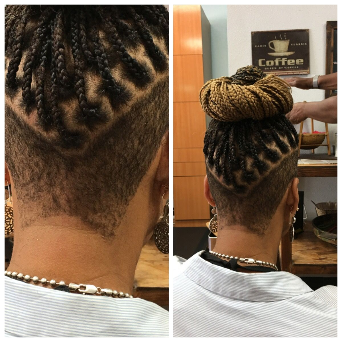 Braids with shaved sides hair inspo in pinterest