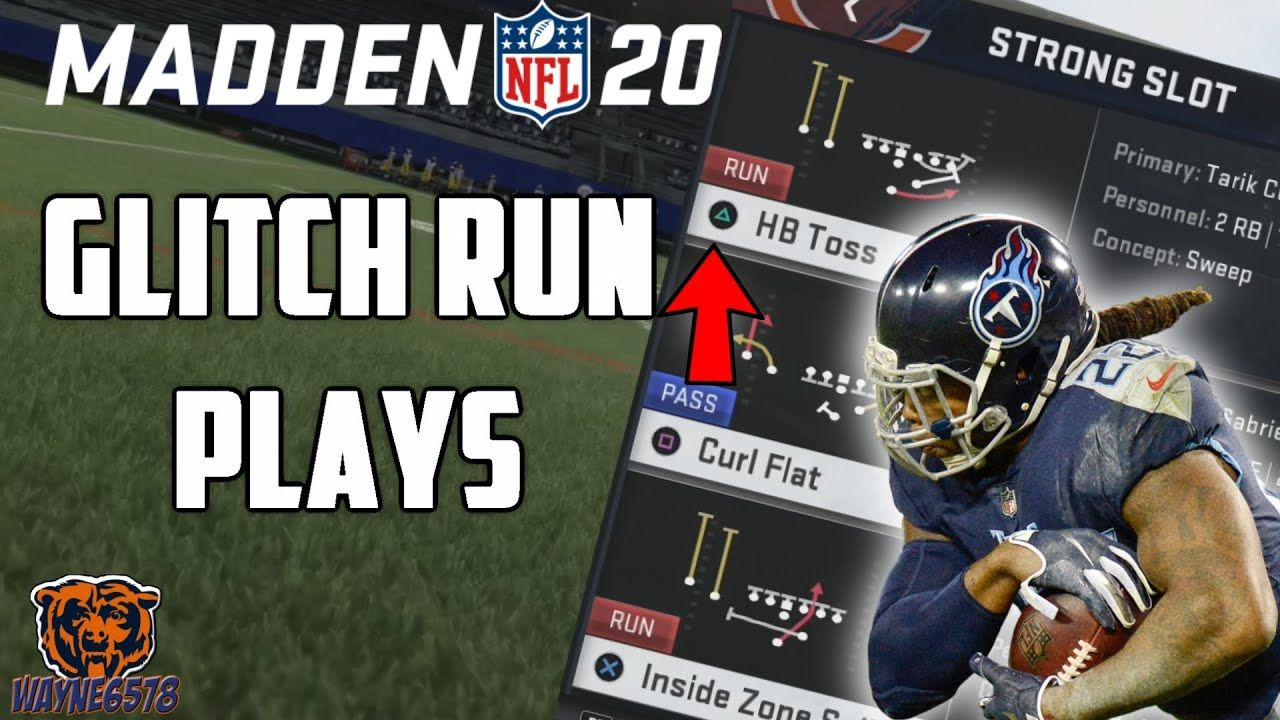Glitch Run Plays Madden 20 Best Way To Run In Madden 20 Strong Slot In 2020 Games To Win Madden Glitch