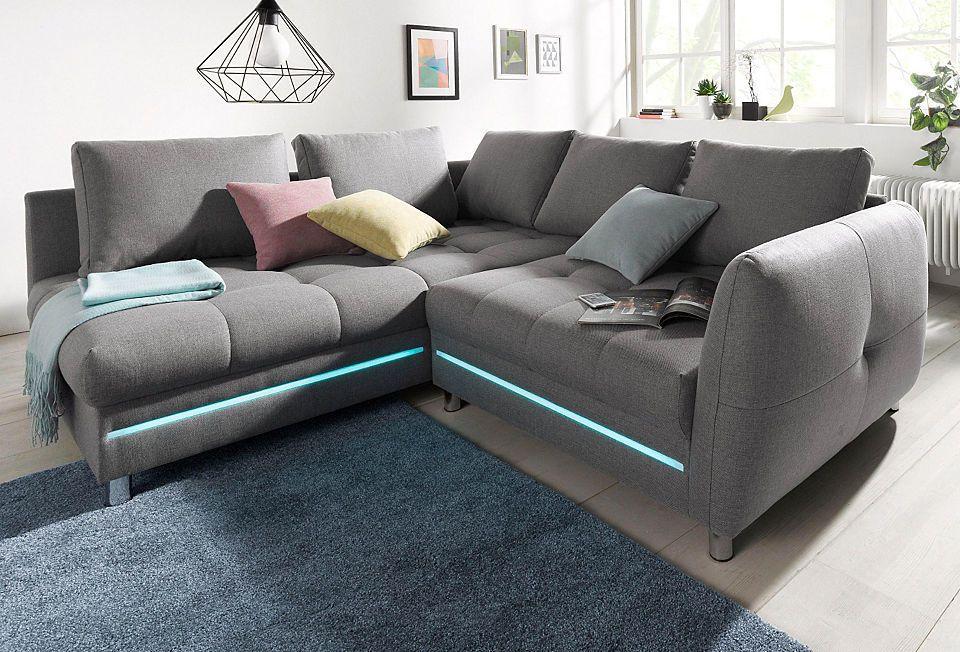 Polsterecke, wahlweise mit Bettfunktion oder RGB-LED-Beleuchtung - beleuchtung für wohnzimmer