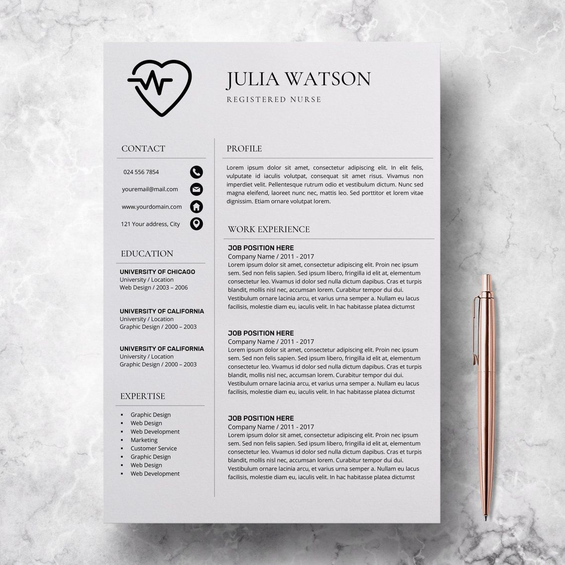 Functional Resume Example For Nurses
