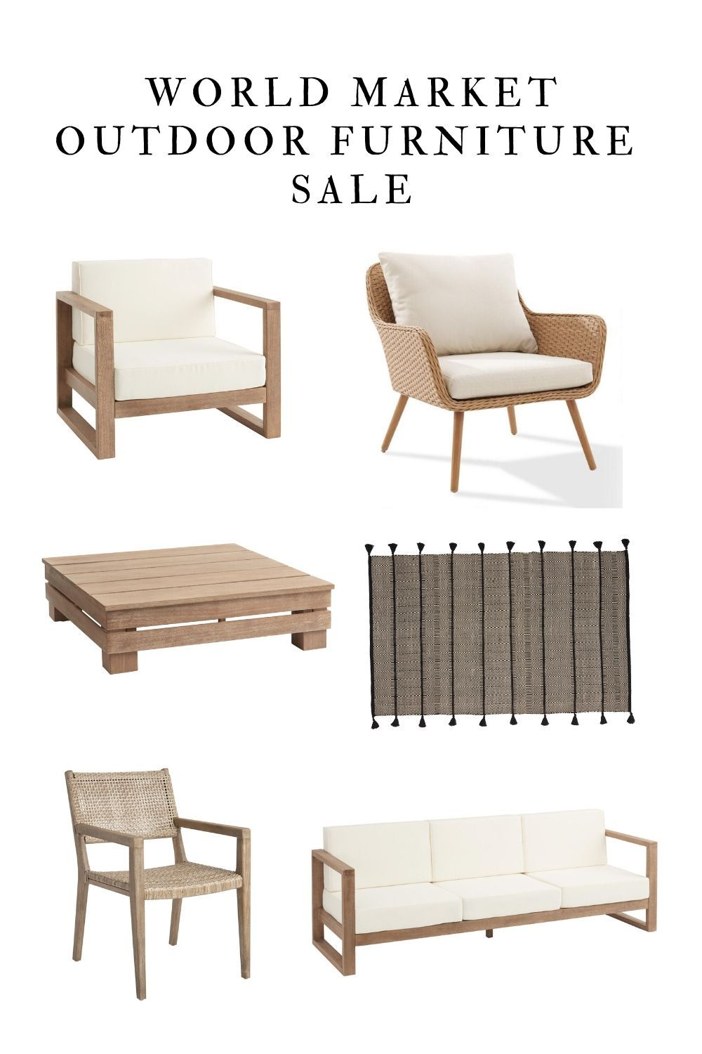 40 Off Sale On Outdoor Furniture At World Market I Rounded Up My Favorites In 2020