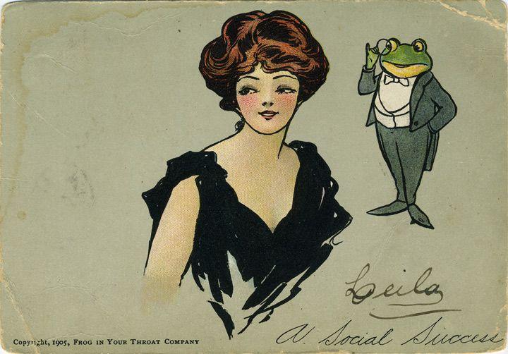 """""""Frog in Your Throat?"""", 1900s   Retronaut"""