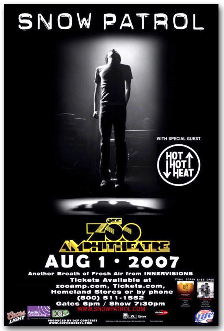 Snow Patrol Final Straw Tour Poster