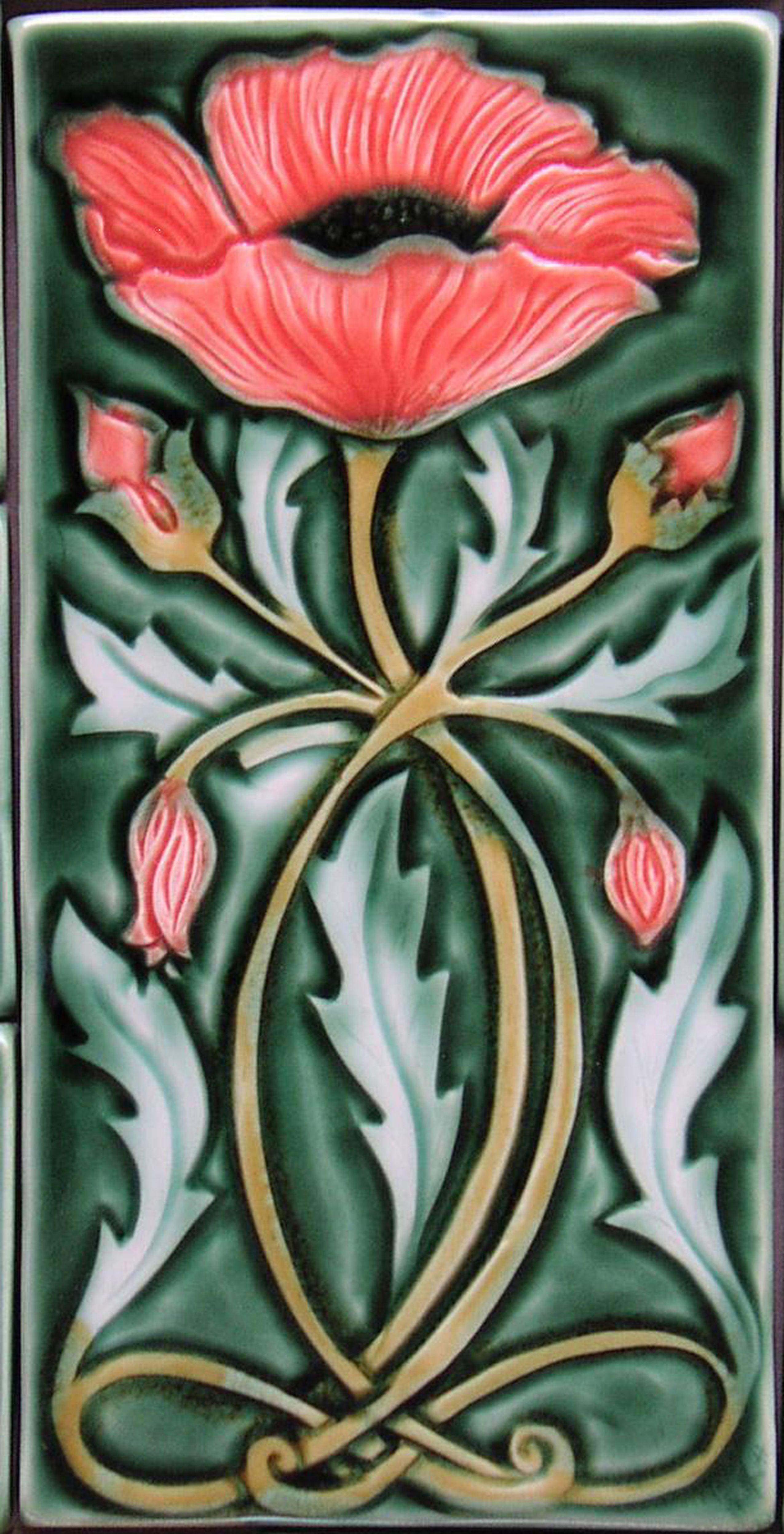 Art Nouveau Inspired California Poppy By Mason Larose: Pin De Tracy Jones En Clip Art En 2019