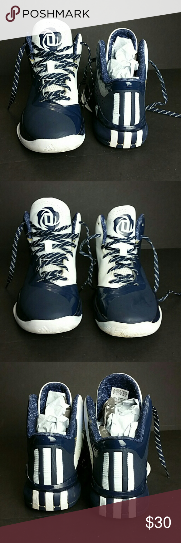 ADIDAS D ROSS BOYS SHOES VERY CLEAN