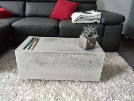 couchtisch aus beton, betontisch, tisch aus beton, betonmöbel in