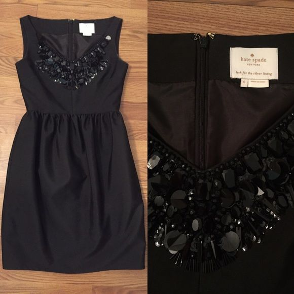 Kate Spade Black Embellished Cupcake Dress EEUC, worn once, perfect condition, size 0 kate spade Dresses