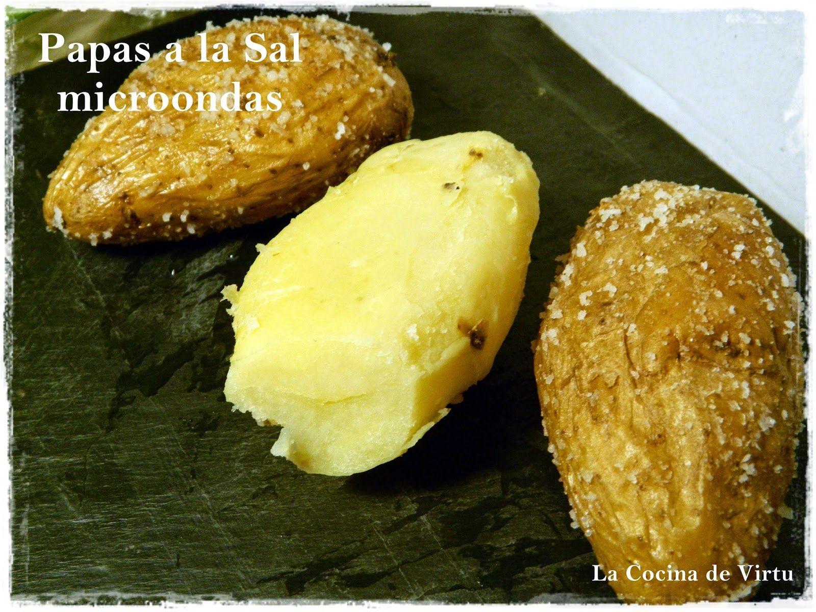Patatas a la sal en el microondas una guarnici n muy - Hacer pasta en el microondas ...