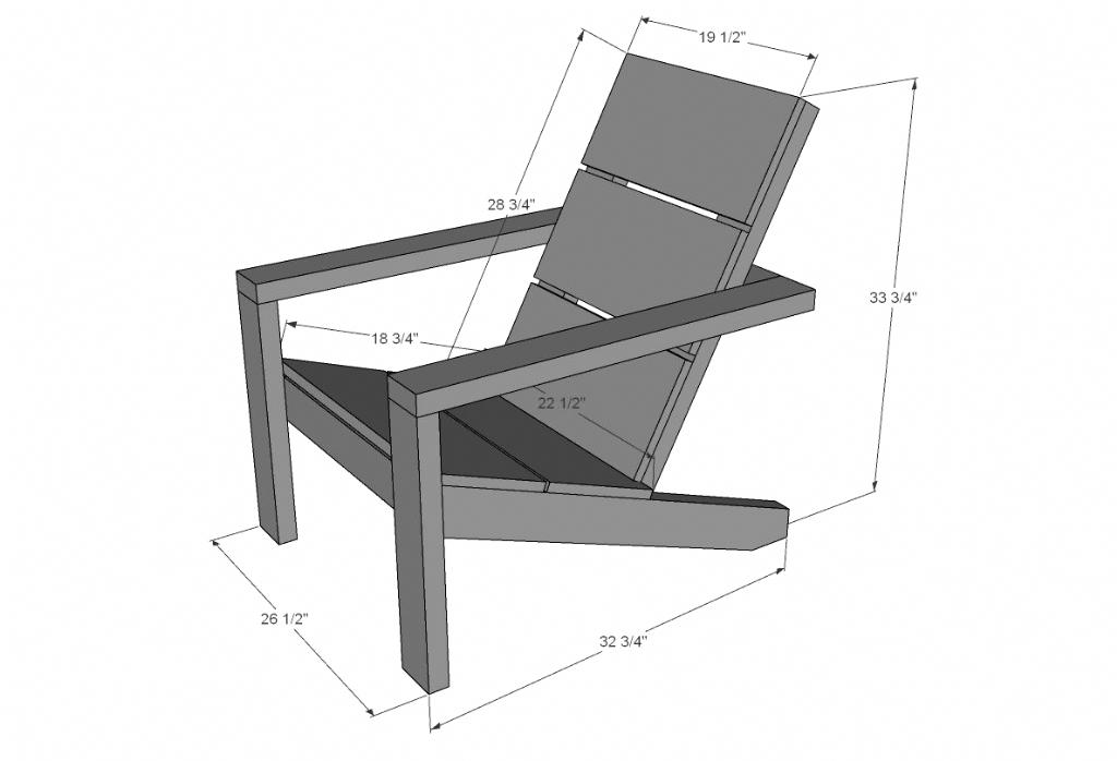 Ana White Adirondack Chair 2×4